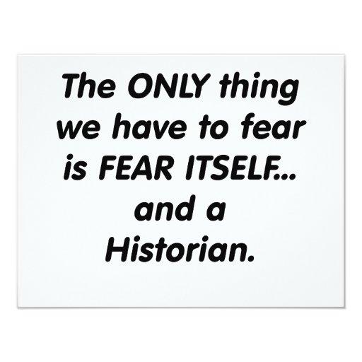 historiador del miedo invitación 10,8 x 13,9 cm