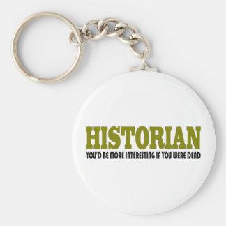 Historiador divertido llavero personalizado