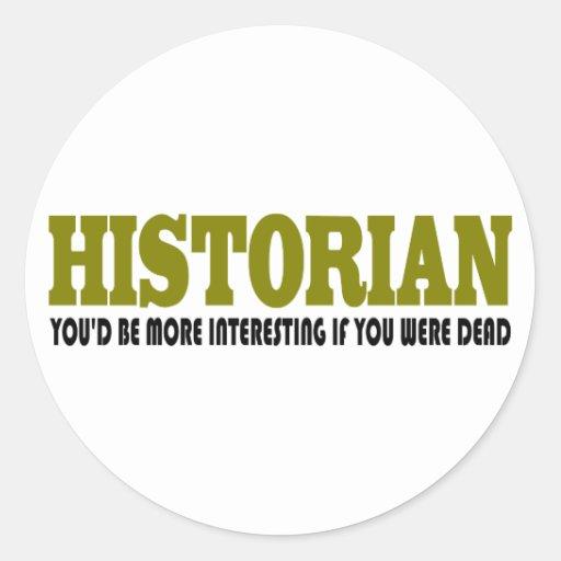 Historiador divertido pegatina redonda