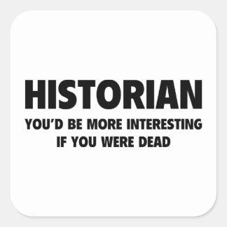 Historiador Pegatina Cuadrada
