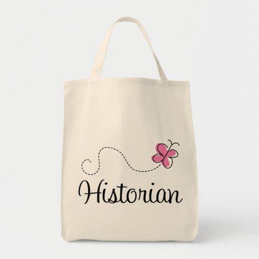 Historiador rosado lindo de la mariposa bolsa tela para la compra