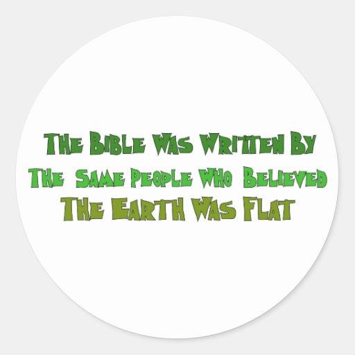 Historiadores planos de la tierra etiquetas redondas