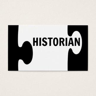 Historian Puzzle Piece Business Card