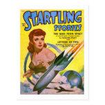 Historias alarmantes cómicas de Sci Fi del vintage Tarjetas Postales