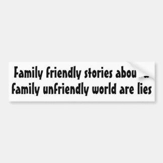 Historias amistosas de la familia sobre… pegatina de parachoque