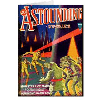 Historias asombrosas ciencia de abril de 1931 tarjeta de felicitación