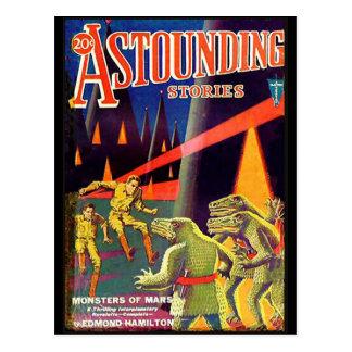 Historias asombrosas ciencia de abril de 1931 tarjetas postales