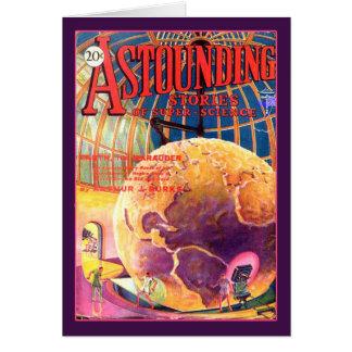 Historias asombrosas ciencia de julio de 1930 tarjeta de felicitación