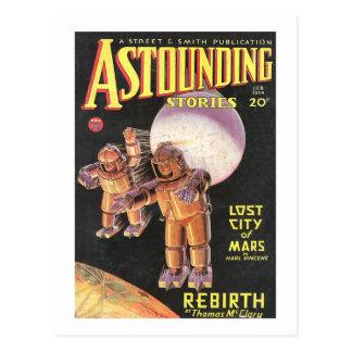 Historias asombrosas cómicas 1934 de Sci Fi del Postal
