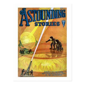 Historias asombrosas cómicas de Sci Fi del vintage Postal