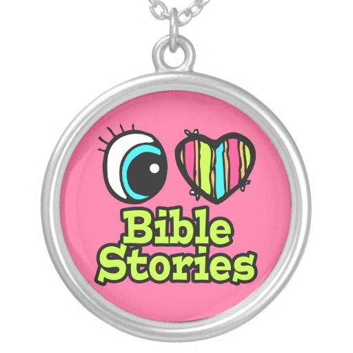 Historias brillantes de la biblia del amor del cor colgantes