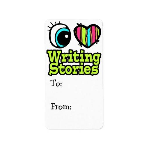 Historias brillantes de la escritura del amor del  etiqueta de dirección
