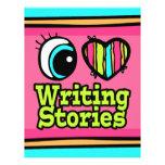Historias brillantes de la escritura del amor del  tarjetón