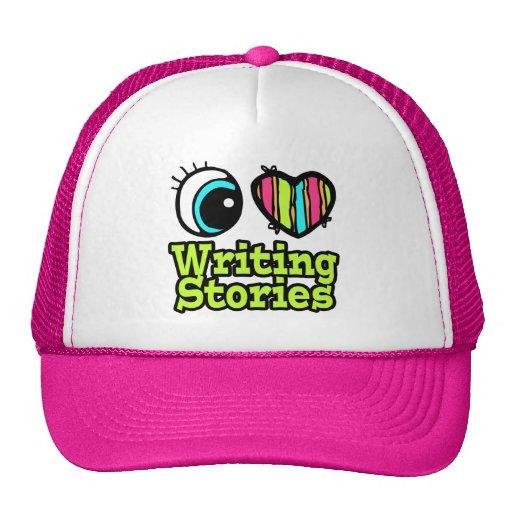 Historias brillantes de la escritura del amor del  gorras