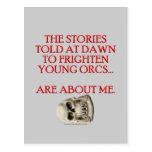 Historias contadas para asustar Orcs joven Postal