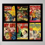 Historias de amor de las cubiertas de cómic del póster