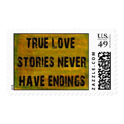 Historias de amor estampillas