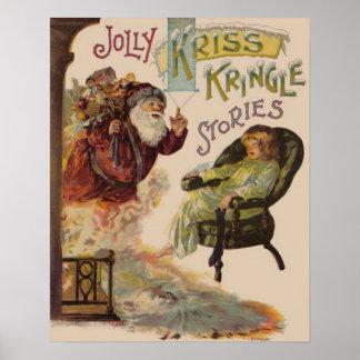 Historias de Kriss Kringle de Santa Póster