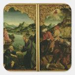 Historias de S.S. Peter y del altarpiece de Paul: Calcomanías Cuadradas Personalizadas