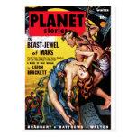 Historias del planeta - Bestia-Joya de Marte Tarjeta Postal