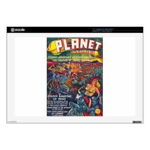 historias del planeta calcomanía para 43,2cm portátil