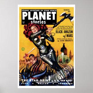 Historias del planeta - el Amazonas negro del post Póster