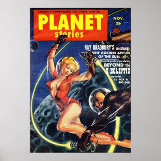 Historias del planeta - más allá de la ecl3iptica póster