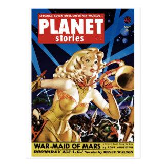 Historias del planeta - Warmaid de la postal de Ma