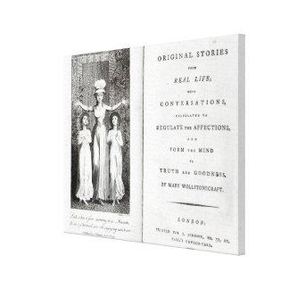 Historias originales del Frontispiece 'de real Impresión En Lienzo