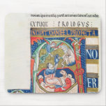 Historiated initial 'A' Depicting Daniel Mouse Pad
