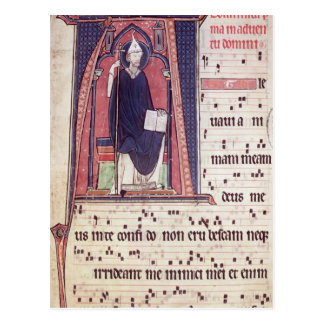 Historiated initial 'A' Postcard