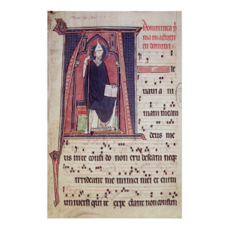 Historiated initial 'A' Poster