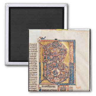 Historiated initial 'B' depicting King David 2 Inch Square Magnet
