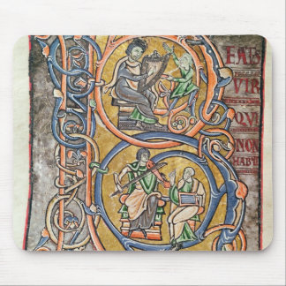 Historiated initial 'B' depicting King David Mouse Pad