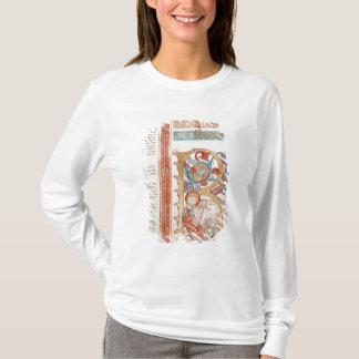 Historiated initial 'B' depicting King David T-Shirt