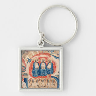 Historiated initial 'B' depicting the Trinity Keychain