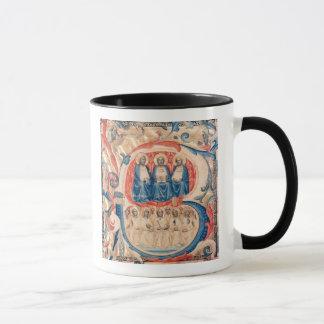 Historiated initial 'B' depicting the Trinity Mug