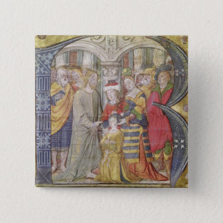 Historiated initial 'B' Pinback Button