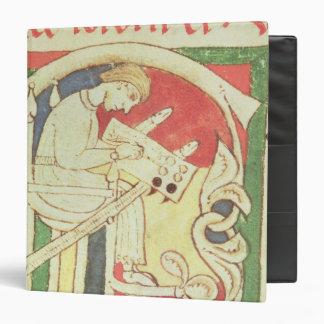 Historiated initial 'C' depicting a monk Vinyl Binders