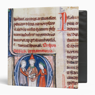 Historiated initial 'D' depicting a marriage 3 Ring Binder