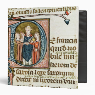 Historiated initial 'D' depicting a priest 3 Ring Binder