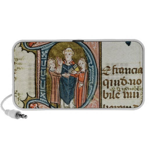 Historiated initial 'D' depicting a priest Portable Speaker