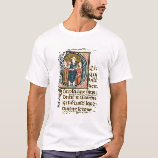 Historiated initial 'D' depicting a priest T-Shirt