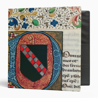 Historiated initial 'D' depicting coat of arms 3 Ring Binders