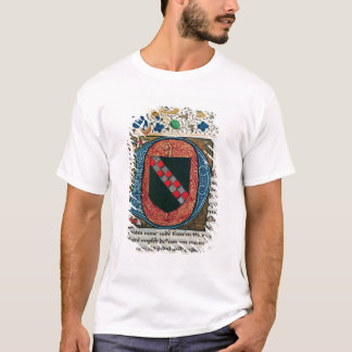 Historiated initial 'D' depicting coat of arms T-Shirt