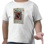 Historiated initial 'D' depicting coat of arms Shirt