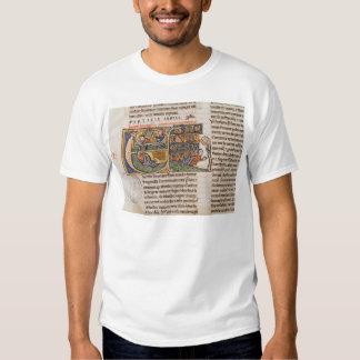 Historiated initial 'E' depicting Jonah T-shirt