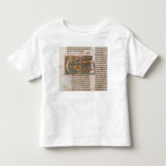 Historiated initial 'E' depicting Jonah Tshirt