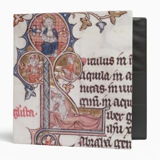 Historiated initial 'L' depicting Tree of Binder