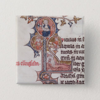 Historiated initial 'L' depicting Tree of Button
